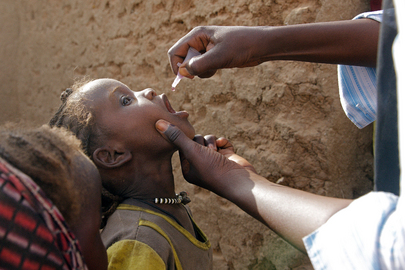 Child Receiving Polio immunisation