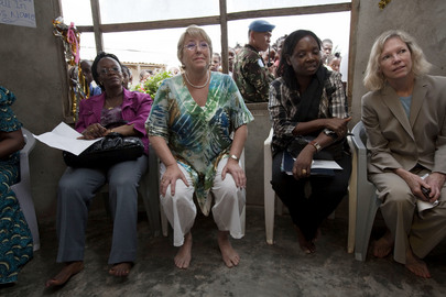 UN Women Chief Visits Liberian Peace Hut