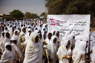 Darfur Women and Girls March on International Women's Day
