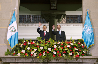 Secretary-General Meets President at Guatemala's National Palace