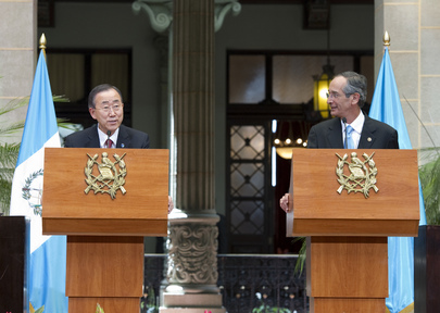 Secretary-General and Guatemalan President Brief Media