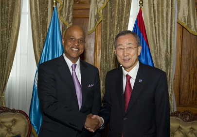 Secretary-General Meets Prime Minister of Belize in Guatemala City
