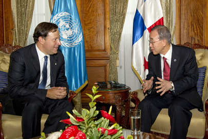 Secretary-General Meets Vice President of Panama in Guatemala City
