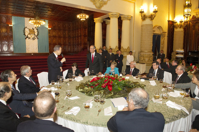 Secretary-General Attends State Dinner in Guatemala