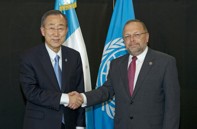 Secretary-General Meets CICIG Head in Guatemala City