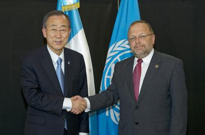 Secretary-General Meets CICIG Head in Guatemala City