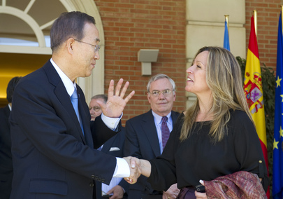 Secretary-General Meets Spanish Foreign Minister in Madrid