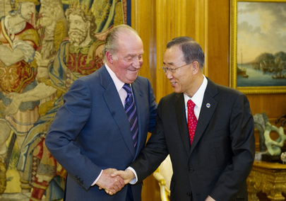 Secretary-General Meets King Juan Carlos I of Spain in Madrid