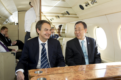 Secretary-General Heads for Libya Meeting with Spanish Prime Minister