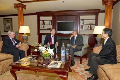 Secretary-General Meets Former IAEA Chief El-Baradei in Cairo