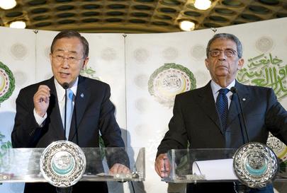 Secretary-General and Arab League Chief Brief Press in Cairo