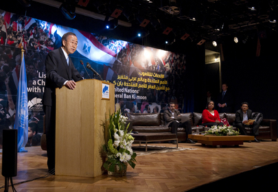 "Secretary-General Speaks on ""Changing Arab World and UN"" in Cairo"