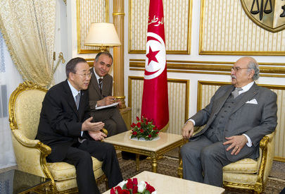 Secretary-General Meets Tunisia's Interim President