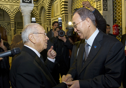 Secretary-General Meets New Prime Minister in Tunis