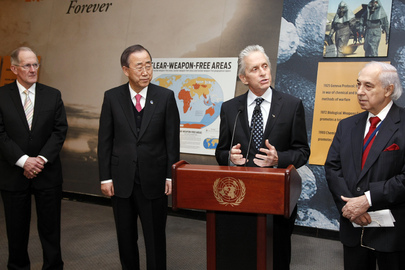 UN Messenger of Peace Michael Douglas Speaks on Nuclear Disarmament
