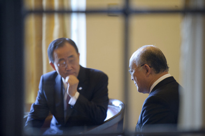 Secretary-General Discusses Japan's Nuclear Crisis with IAEA Chief