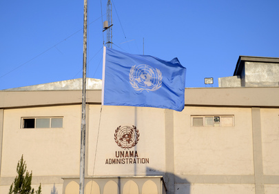 UN Flag Flies Half-Mast in Memory of Colleagues Killed in Mazar-i-Sharif