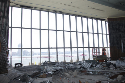Demolition Work in Trusteeship Council Chamber