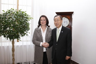 Secretary-General Meets Czech Speaker of Parliament