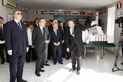 Secretary-General Visits the Site of Chernobyl Nuclear Power Plant