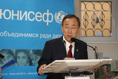 Secretary-General Visits Children's Physical Rehabilitation Centre in Moscow