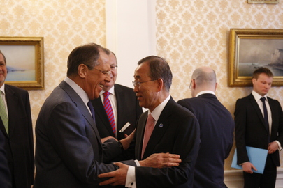 Secretary-General Meets Russian Foreign Minister in Moscow