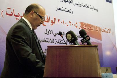 Iraq Electoral Commission Chair Briefs Media