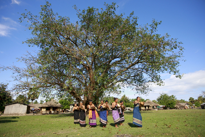 Timor Women Perform Traditional Dance