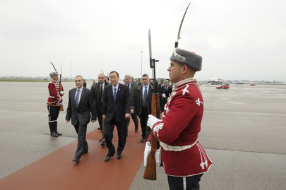 Secretary-General Arrives in Sofia, Bulgaria