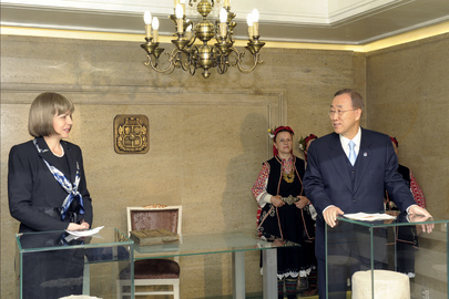 Secretary-General Meets Mayor of Sofia, Bulgaria