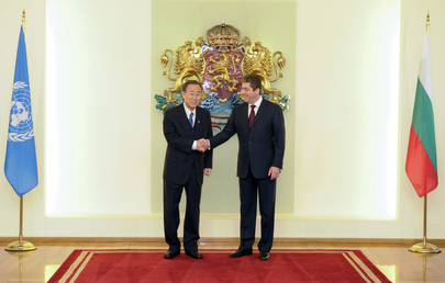 Secretary-General Meets Bulgarian President in Sofia