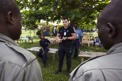 UNPOL Training Session with Liberian National Police