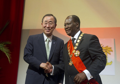Secretary-General Attends Inauguration of New Ivorian President