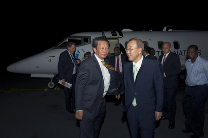Secretary-General Arrives in Côte d'Ivoire