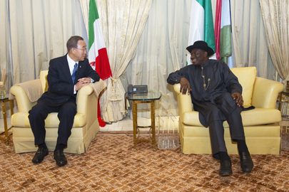 Secretary-General Meets President of Nigeria in Abuja