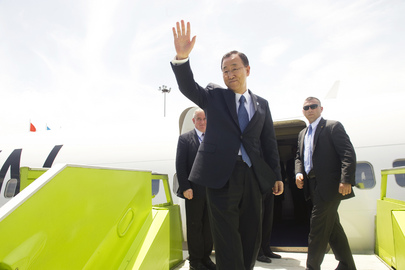 Secretary-General Departs Abidjan