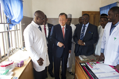 Secretary-General Visits Hospital in Abuja, Nigeria