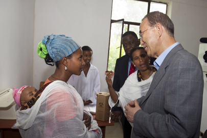 Secretary-General Visits Merawi Health Centre Near Bahir Dar, Ethiopia