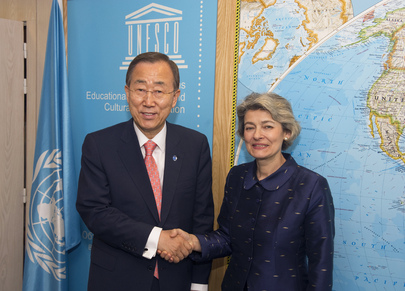 Secretary-General Meets with UNESCO Director-General in Paris
