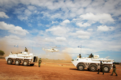 UNMIS Troops Prepare to Patrol Town of Abyei, in Sudan