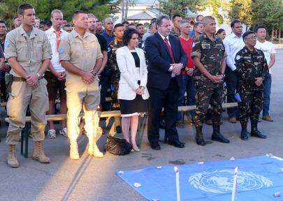UN Peacekeepers' Day Observed in Golan Heights