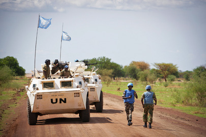 UN Peacekeepers on Patrol in Abyei