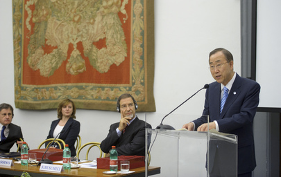 Secretary-General Opens Interethnic City Conference in Rome