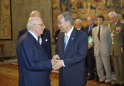 Secretary-General Greeted by President of Italy in Rome