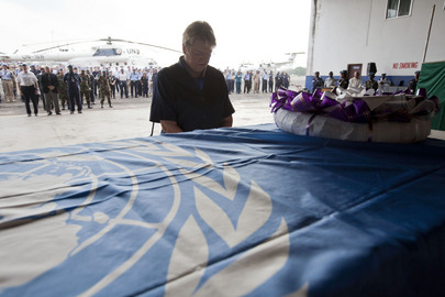 Special Representative for Liberia Mourns Fallen Peacekeeper
