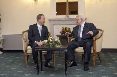 Secretary-General Meets President of Palestinian National Authority