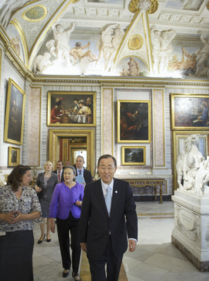 Secretary-General Visits Galleria Borghese in Rome