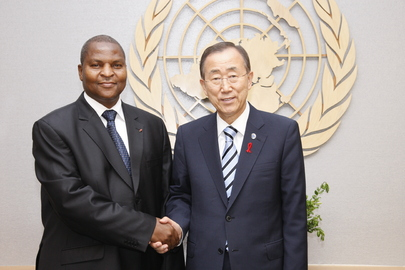 Secretary-General Meets Prime Minister of Central African Republic