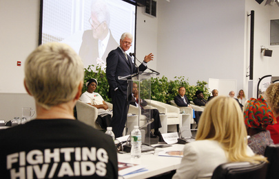 Bill Clinton Speaks at Launch of Global Plan to Eliminate HIV Infections among Children