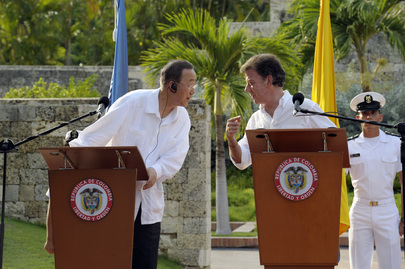 Secretary-General and President of Colombia Brief Press